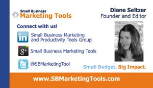 business card social media