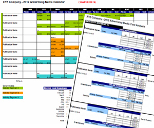 Advertising media plan template