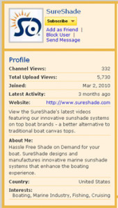 youtube business profile
