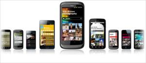 mobile website widgets