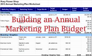 marketing plan budget tracking