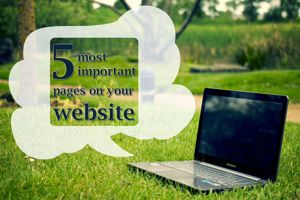 5 most important website pages