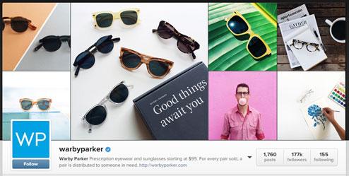 warby parker on instagram