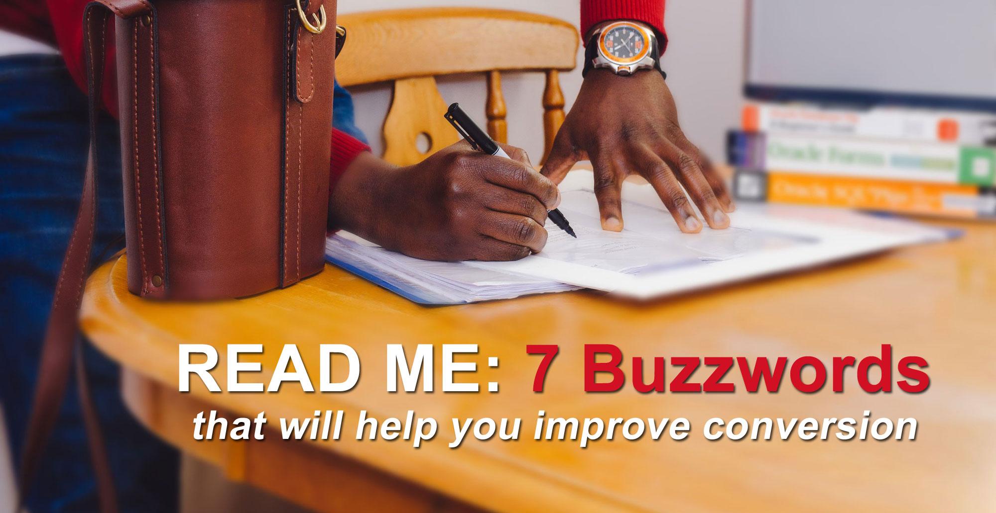 buzzwords improve conversion